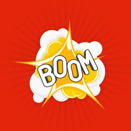 Boom comic explosions.