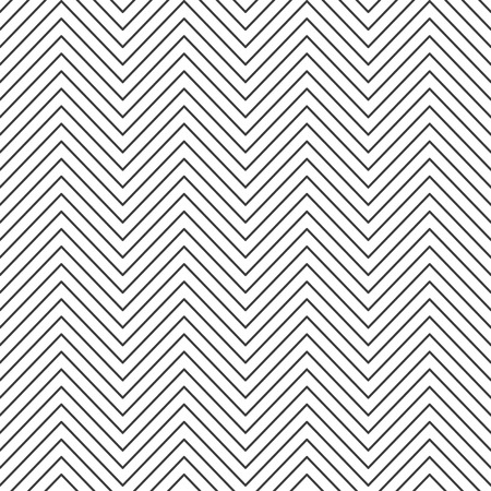 Zigzag seamless pattern. Abstract geometric backdrop. Retro seamless black zigzag striped background. Vintage style. Vector illustration EPS 10. Illustration