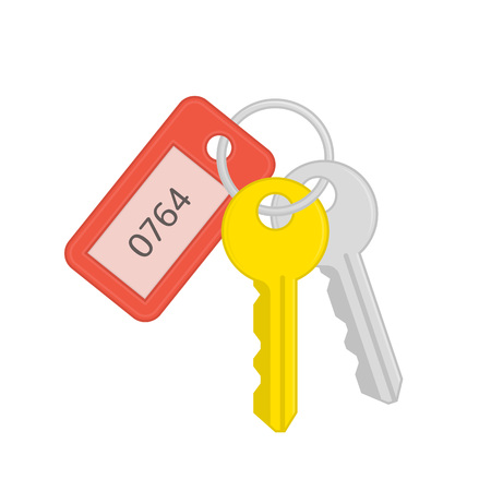 Key and keychain. Archivio Fotografico - 106299878