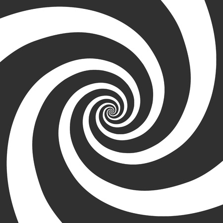 Hypnotic spiral background. Psychedelic Spiral Pattern. The concentric circles with hypnosis effect. Radial rays, twirl, twisted comic effect. Vector illustration EPS 10. Vectores