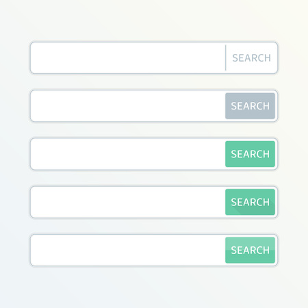 Web search field. Search bar set vector interface elements with search button. Set of search box modern flat design isolated on white background. Design element of Web site, applications, e-shop. Illustration