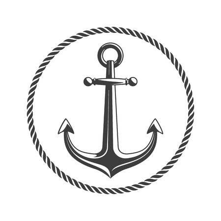 Anchor with circular rope.