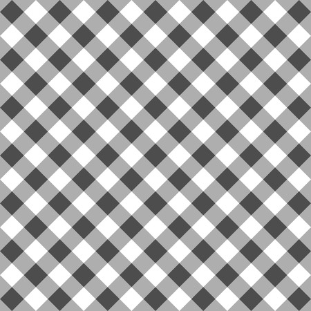 Seamless Checkered seamless Pattern. Black and white tablecloth background. Picnic gingham cloth template. Retro craft art print curtains fashioned style fabric vintage square. Illustration