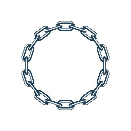 Vector round chain.