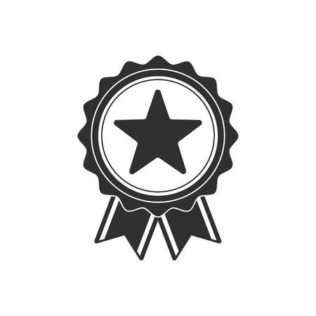 Medal black icon.