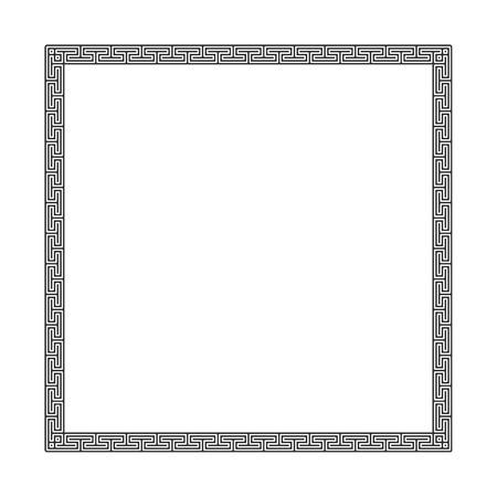 Decorative black greek frame.