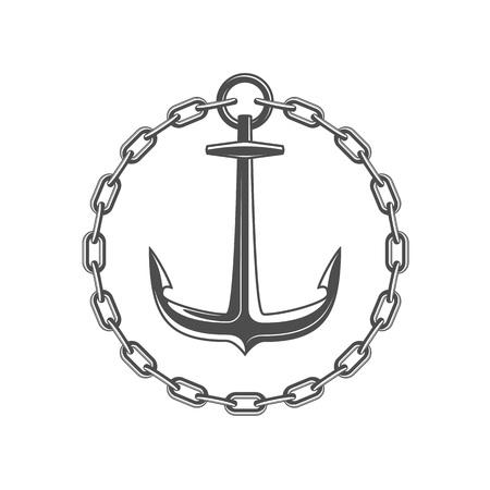 Anchor and circular chain.