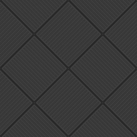 Abstract white geometric pattern. Black Tile seamless background. Dark tiles textures. Floor tile texture in realistic style. Vector illustration EPS 10.