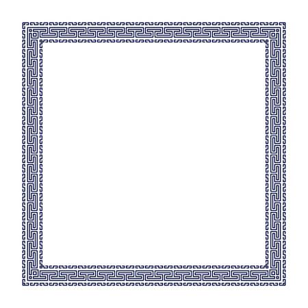 Decorative greek frame. Vectores