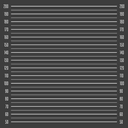 Police mugshot background. Vector police lineup template. Add a photo. Mugshot illustration with a table. EPS 10.
