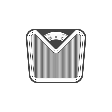 Weight Scale simple icon. Weighing machine sign. Bathroom scales isolated on white background. Vector illustration in modern flat style. EPS 10. Illustration