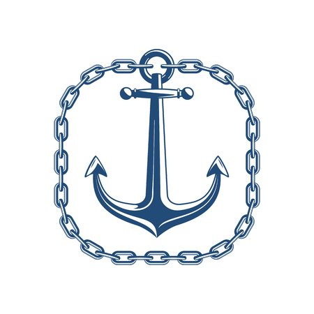 Anchor with square chain.