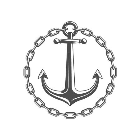 Anchor with circular chain.