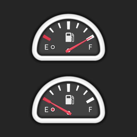 Vector fuel gauge. Illustration