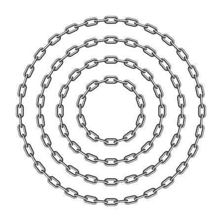 Black round chain.