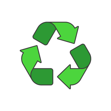 Vector recycle icon.
