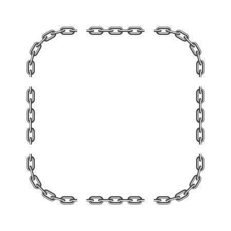 Black chain frame. Ilustrace