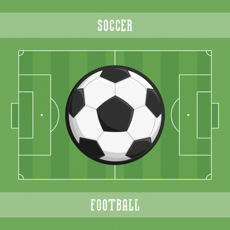 Soccer ball and field. Illustration
