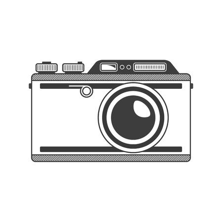 Vector retro camera.