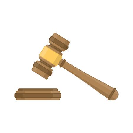 Judge wood hammer.