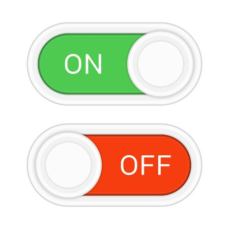 On and off slider buttons.