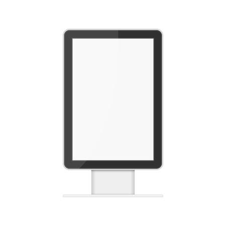 Realistic light box template. Illustration