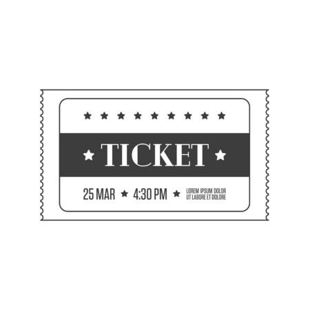 Simple cinema ticket, vector illustration.