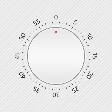 Vector kitchen equipment timer, vector illustration. Illustration
