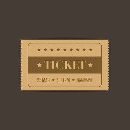 Vector cinema ticket, vector illustration.