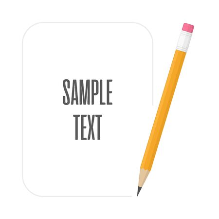 Pencils with space for text, vector illustration.