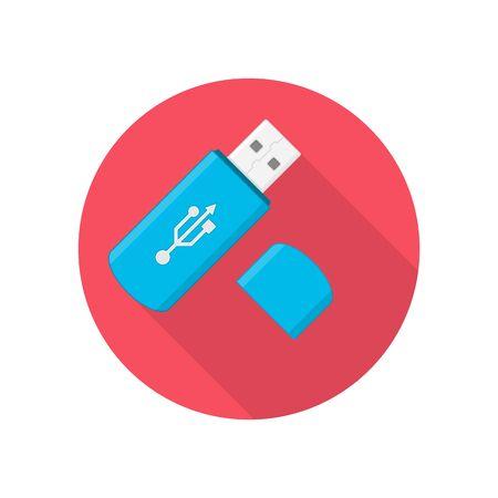 USB flash drive, vector illustration.