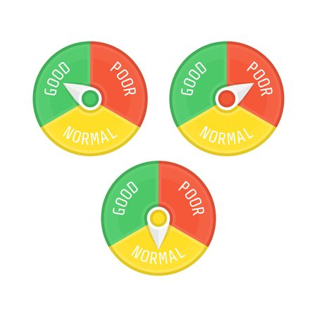 Indicators credit score, vector illustration.