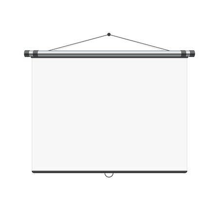 Blank white board. Illustration