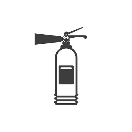 Fire extinguisher icon isolated on white background. Extinguisher sign in flat style. Concept of fire safety. Vector illustration EPS 10.