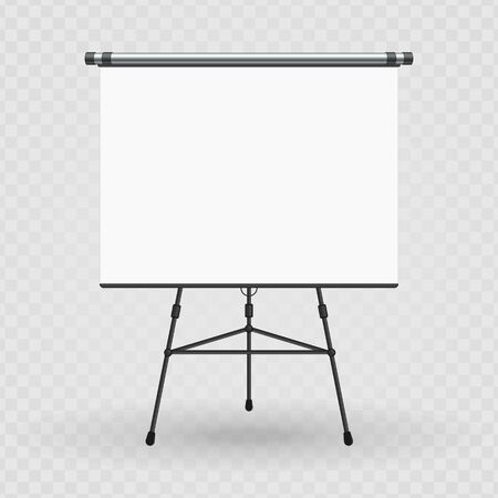 Blank presentation screen vector. Иллюстрация