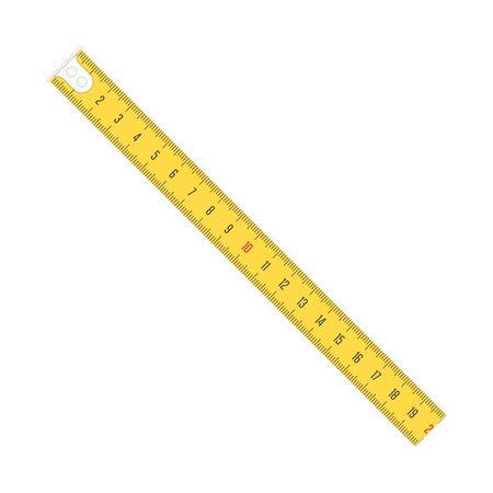 Measure tape vector meter scale.