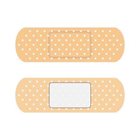 Adhesive elastic medical plasters.