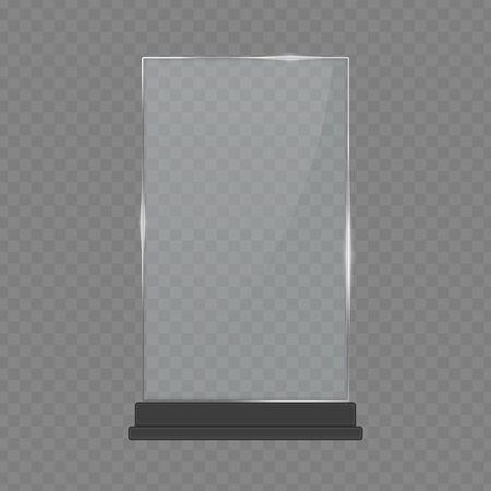 Glass table display. Vetores