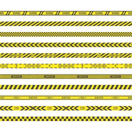 Barricade construction tape.