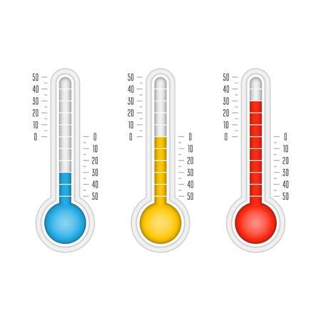 Temperature vector icons. Vector Illustratie