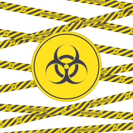 Biohazard vector sign and tape.