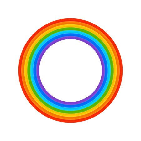 Rainbow ring vector.