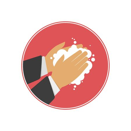 Washing hands vector sign.
