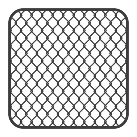 Metal fence wire mesh vector. Illustration