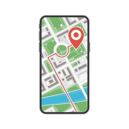 Mobile navigation concept. Stock Illustratie