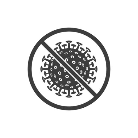 Corona virus stop sign.