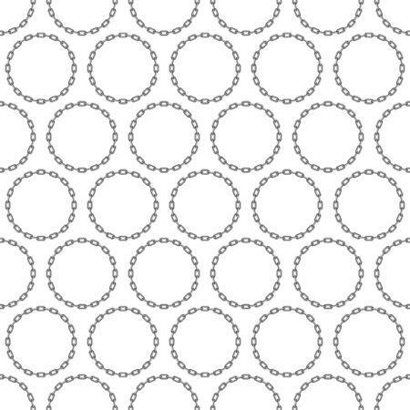 Round chain background.