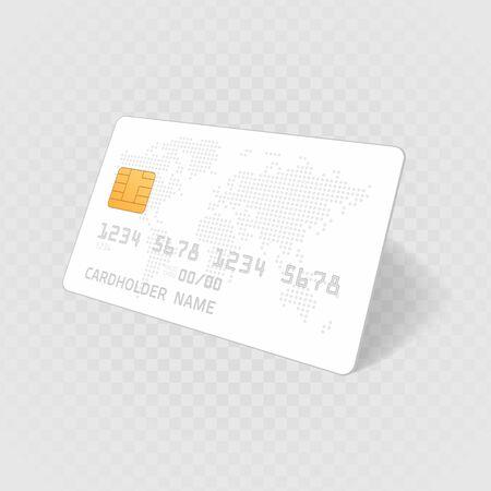 Credit card template. Stock Illustratie