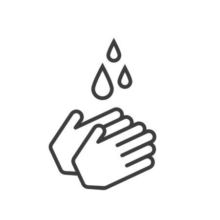 Hand washing icon.