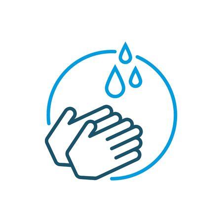 Hand washing icon vector.